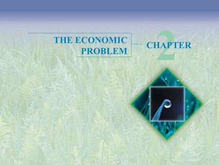 2 THE ECONOMIC PROBLEM CHAPTER.