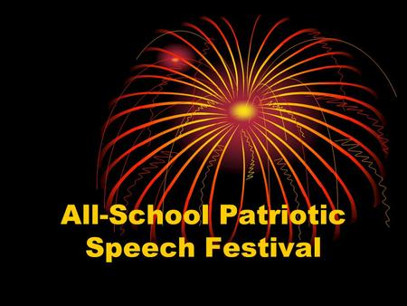 All-School Patriotic Speech Festival. Reference Source Johnson, M. (2003). Primary Sources in the Library: A Collaboration Guide for Library Media Specialists.