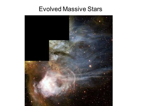 Evolved Massive Stars. Wolf-Rayet Stars Classification WNL - weak H, strong He, NIII,IV WN2-9 - He, N III,IV,V earliest types have highest excitation.