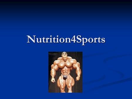 Nutrition4Sports. Done in last week Searched for cheap marketing ways (analyzing will take more time) Searched for cheap marketing ways (analyzing will.