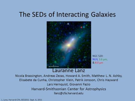 The SEDs of Interacting Galaxies Lauranne Lanz Nicola Brassington, Andreas Zezas, Howard A. Smith, Matthew L. N. Ashby, Elisabete da Cunha, Christopher.