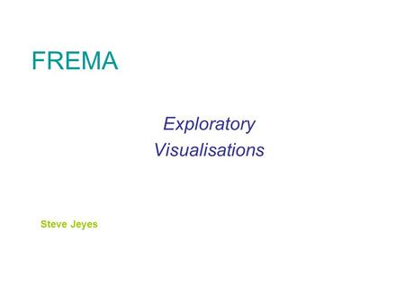 FREMA Exploratory Visualisations Steve Jeyes. A Service Domain view – after initial reflection on QCA, York, Kingston and Lboro visits Items Validation.