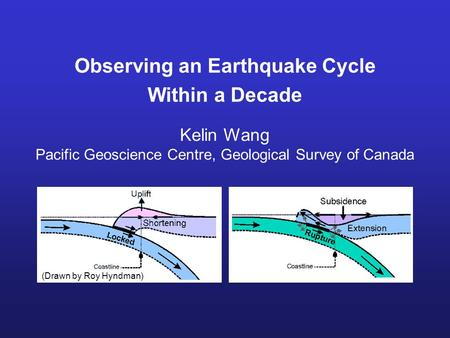 Observing an Earthquake Cycle Within a Decade