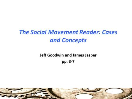 The Social Movement Reader: Cases and Concepts