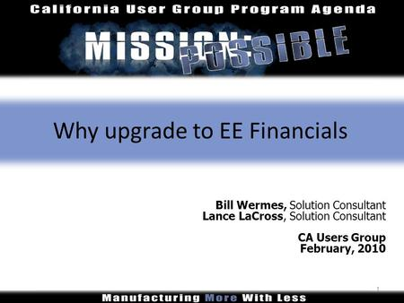 Why upgrade to EE Financials