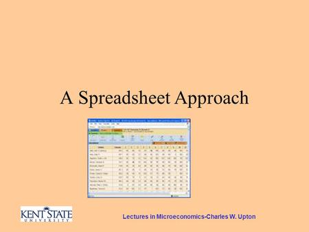 Lectures in Microeconomics-Charles W. Upton A Spreadsheet Approach.
