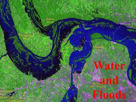 Water and Floods. Groundwater and Floods The Hydrologic Cycle & Earth's water Drainage systems — Drainage basins & Rivers Floodplains and levees Floods.