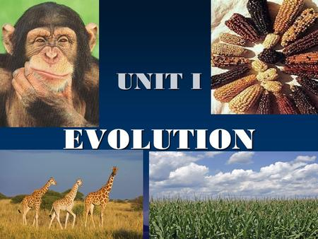 UNIT I EVOLUTION.