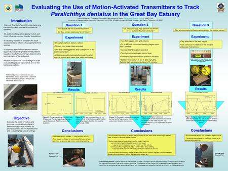 Evaluating the Use of Motion-Activated Transmitters to Track Paralichthys dentatus in the Great Bay Estuary Caitlin McGarigal*, Thomas M. Grothues‡, and.