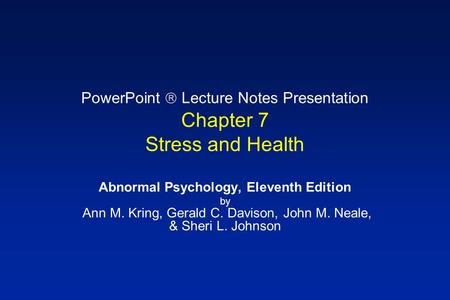psychological and psychophysiological stress disorders Stress and illness to ongoing stress psychophysiological disorders awareness of the importance of stress and other psychological factors in.