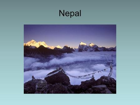 Nepal. Nepal's Geography Altitude ranges from 650' above sea level to >28,000 ft Located on same latitude as Fla. but holds 8 of world's 10 highest mountains.