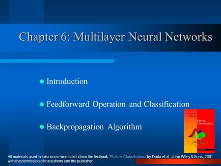 Chapter 6: Multilayer Neural Networks