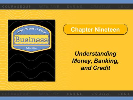 money and banking chapter 15 Syllabus for econ 353 money, banking, and financial institutions mishkin chapter 12 (banking: structure and competition ) l tesfatsion.