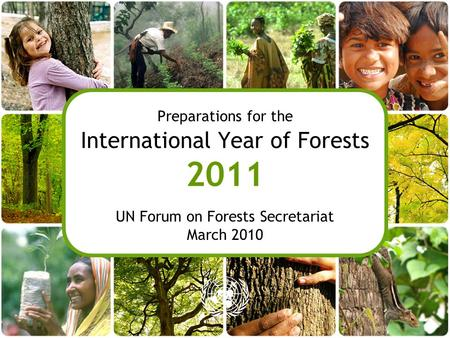 Preparations for the International Year of Forests 2011 UN Forum on Forests Secretariat March 2010.