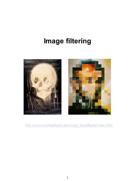 1 Image filtering