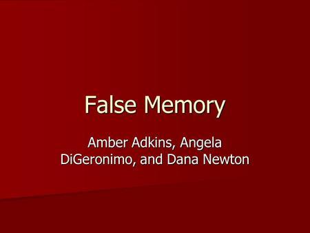 false memory final draft