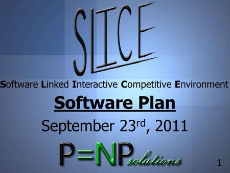 Title 1 Software Linked Interactive Competitive Environment Software Plan September 23 rd, 2011.