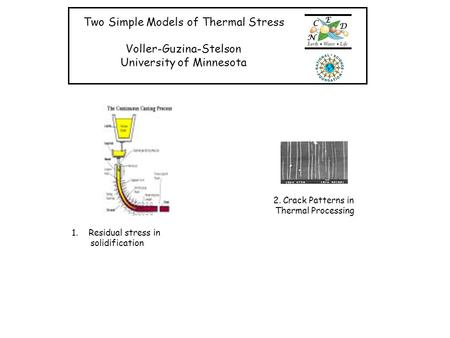 Two Simple Models of Thermal Stress Voller-Guzina-Stelson
