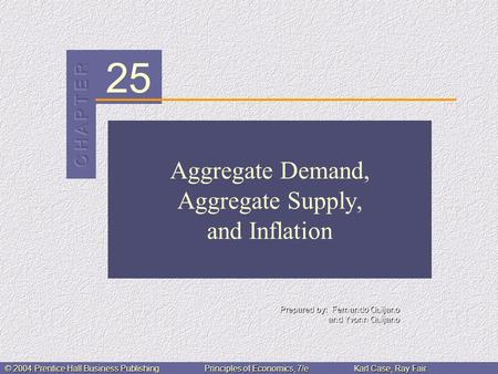 25 Prepared by: Fernando Quijano and Yvonn Quijano © 2004 Prentice Hall Business PublishingPrinciples of Economics, 7/eKarl Case, Ray Fair Aggregate Demand,