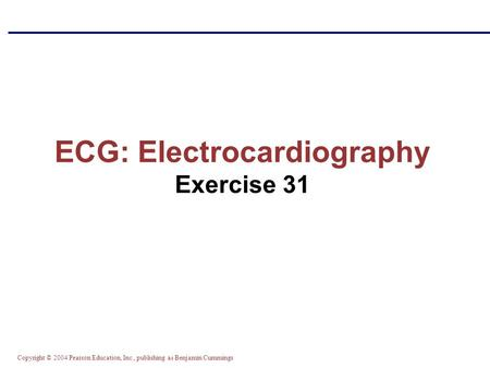 ECG: Electrocardiography Exercise 31