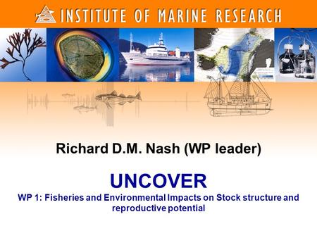 Richard D.M. Nash (WP leader) UNCOVER WP 1: Fisheries and Environmental Impacts on Stock structure and reproductive potential.