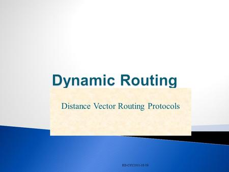 RD-CSY2001-08/09 Distance Vector Routing Protocols.