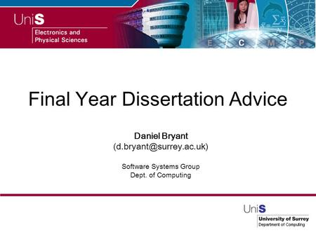 Dissertation Financial Support