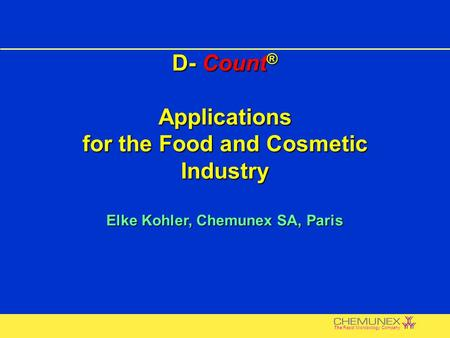 D-Count ® : Non-Filterable Product Testing