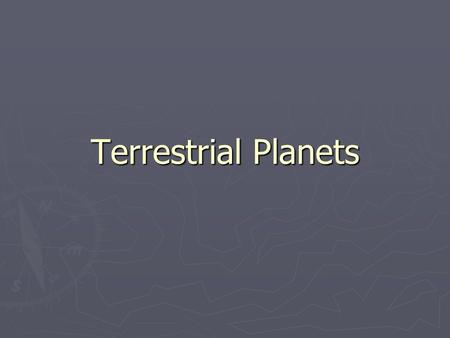 Terrestrial Planets. Sources of internal heat.