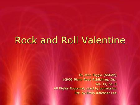 Rock and Roll Valentine