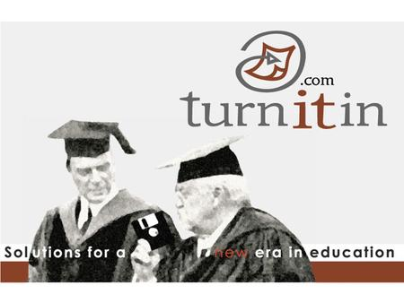 Welcome to the Turnitin.com Faculty Quickstart Tutorial ! This brief tour will take you through the basic steps teachers and students new to Turnitin.com.