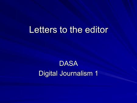 DASA Digital Journalism 1