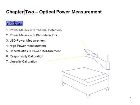Chapter Two – Optical Power Measurement