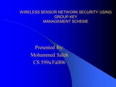 thesis security wireless sensor network