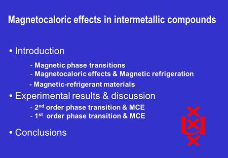 Magnetocaloric effects in intermetallic compounds