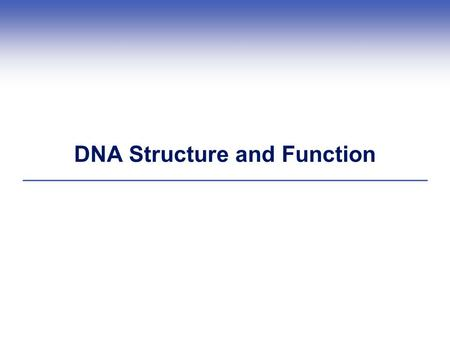 DNA Structure and Function. Watson and Crick's DNA Model.