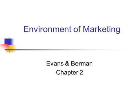 Environment of Marketing
