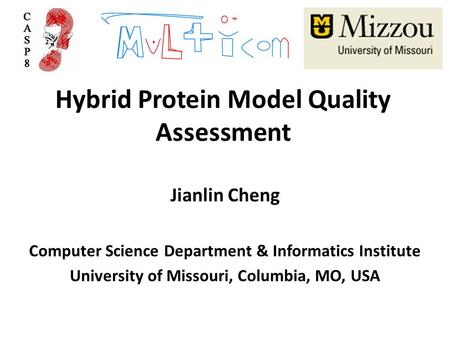Hybrid Protein Model Quality Assessment Jianlin Cheng Computer Science Department & Informatics Institute University of Missouri, Columbia, MO, USA.