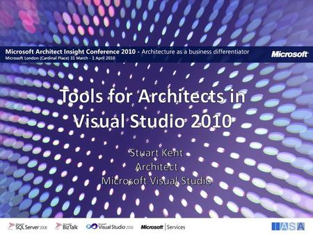 Interoperability. …understand the following about the Visualization and Architecture tools in Visual Studio 2010 Why we built it Who we built it for What.