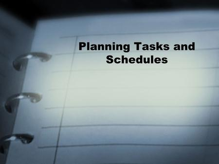 Planning Tasks and Schedules. Notes An endless supply of electronic post it pads Notes can be assigned to Categories Can change the font, color and size.