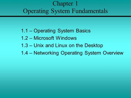 introduction to windows and unix operating Introduction to operating systems and unix-linux  which is a version of the bsd unix operating system that  present and future status of the windows operating .