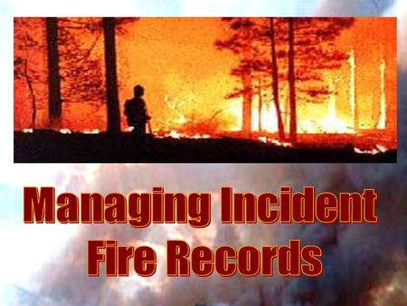 1. 2 Understand how federal wildland fire agencies and NARA are collaborating to manage & preserve fire records Be able to sort wildland fire incident.