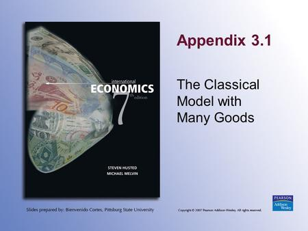 Appendix 3.1 The Classical Model with Many Goods.