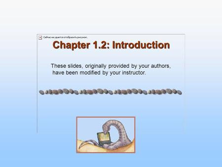 Chapter 1.2: Introduction These slides, originally provided by your authors, have been modified by your instructor.