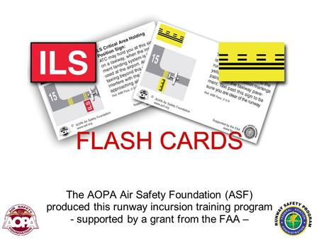 FLASH CARDS The AOPA Air Safety Foundation (ASF)