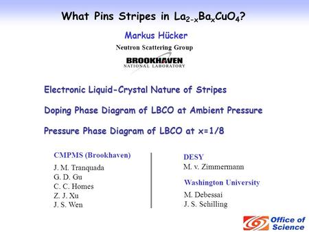 What Pins Stripes in La2-xBaxCuO4? Neutron Scattering Group