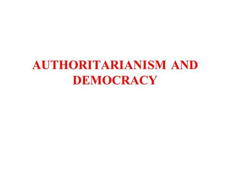 Authoritarian rule in Latin America, Case study of Argentina by Michael Sowa