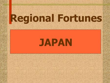 Regional Fortunes JAPAN. Real per capita GNP growth (1955-1980)