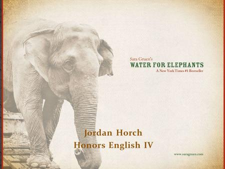 Jordan Horch Honors English IV. In order to understand the story plot line, you must know a few facts: 1. This story is set around a 1930's circus, and.
