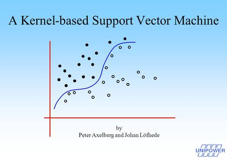A Kernel-based Support Vector Machine by Peter Axelberg and Johan Löfhede.